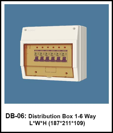 Plastic Body Electrical Fittings distribution board hero electric