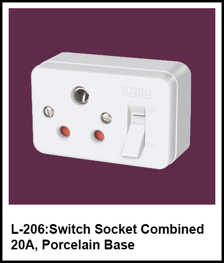Switch Socket Combined