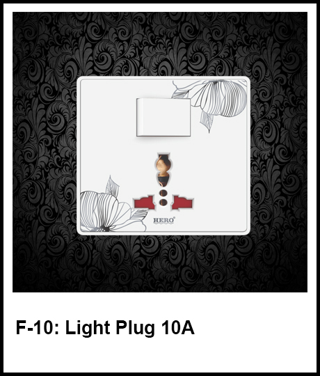Floral White Switch Plates