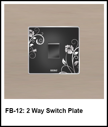 Floral Black Switches 2 way switch