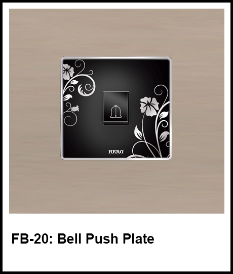 Floral Black Switches bell push button