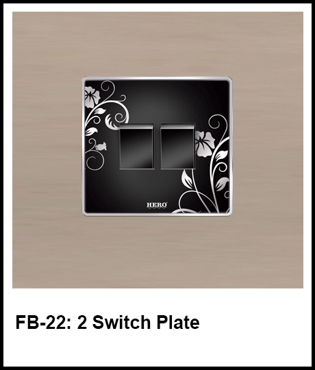Floral Black Switches 2 switch plate