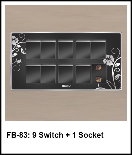Floral Black Switches