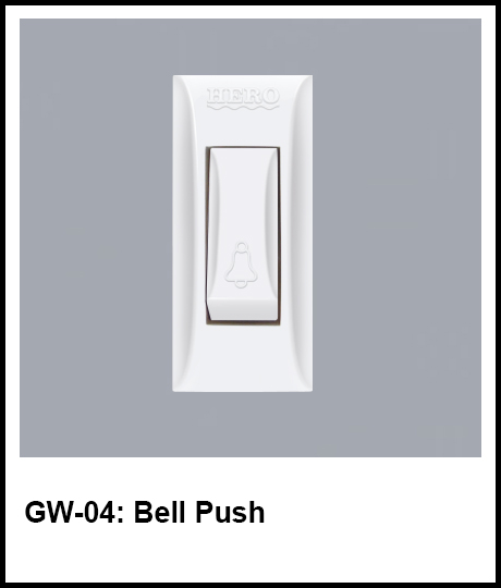 G Series Hero Electric bell push button