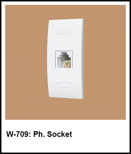 Stylish Series Best Electric Switches phone socket