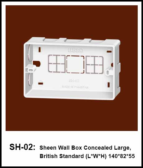 Wall Box Concealed British Standard concealed junction box
