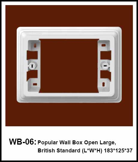 Wall Box British Standard British Standard Surface Mounting Frame 1