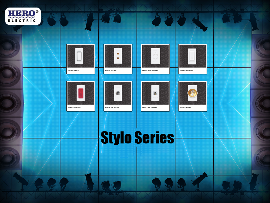 stylo series best electric switches electric sockets in Pakistan